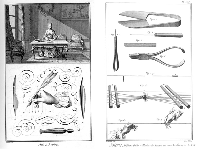 Two representative plates with hand tools from the Encyclopédie