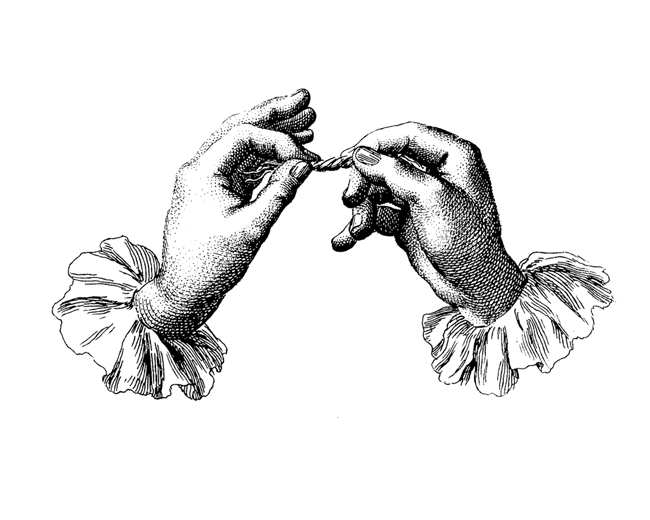 Engravings used as basis for watermark from the Encyclopédie