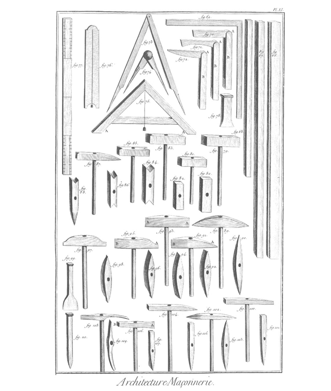 Hammers and dividers from the Encyclopédie