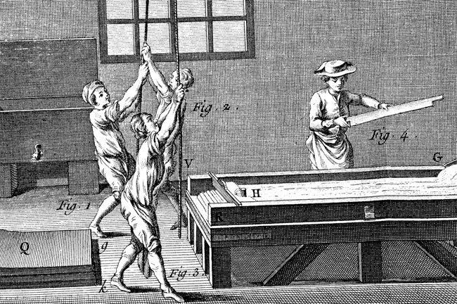 Lead making workshop from the Encyclopédie