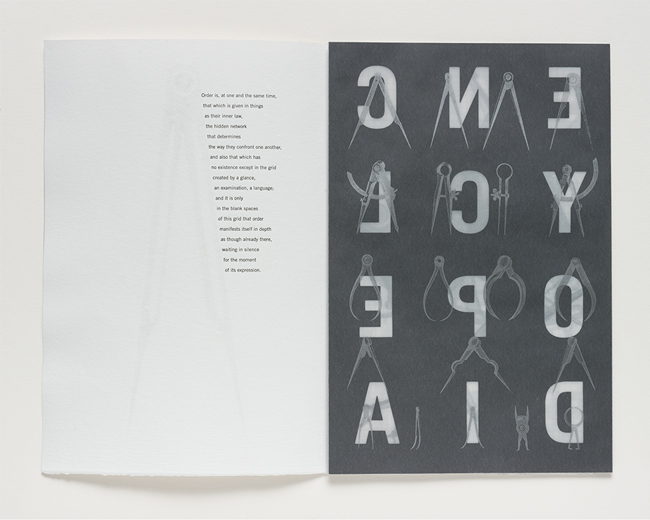 Page spread showing watermark and dividers composition